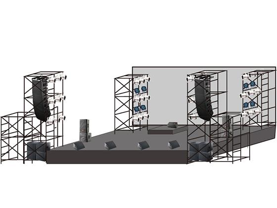 学園祭プロアーティストステージ製作音響照明