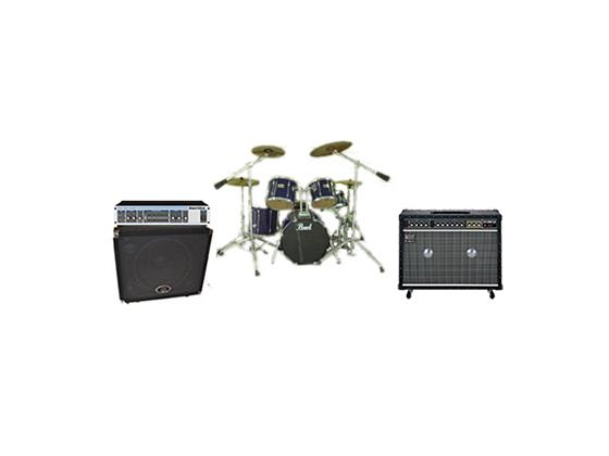 ドラムセット・ベース、ギターアンプ