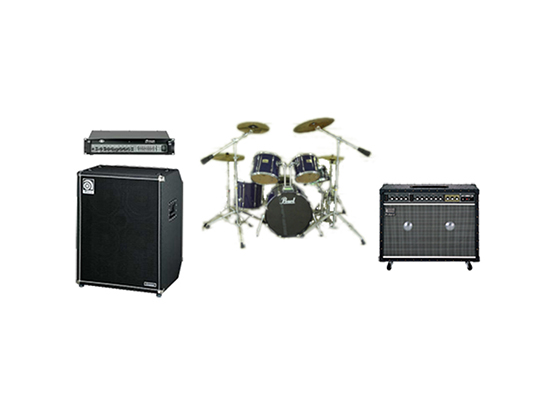 ドラムセット・ギター・ベースアンプ