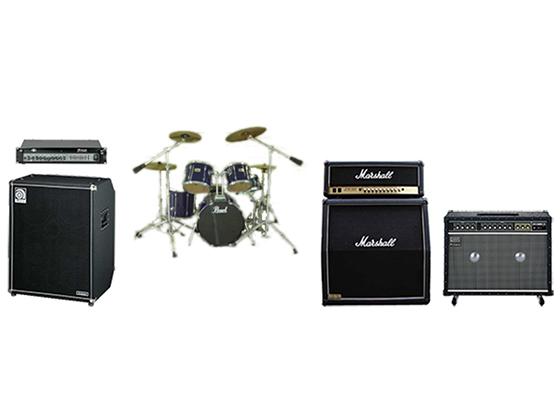 ドラムセット・ベース・ギターアンプ