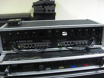 DANTE ネットワーク デジタルミキサー YAMAHA QL5 SHURE ULXD Rio3224-D スイッチングハブ